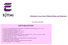 Electronic Journal of Martial Arts and Sciences